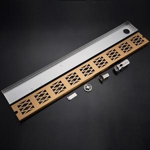 Image 3 - Stainless Steel Bathroom Floor Drain 900MM Linear Long Shower Grate Bathroom Channel Tile Drains