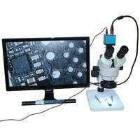 Continuous Zoom Binocular Visual 3.5X 90X Trinocular Stereo Microscope+16MP HDMI USB Digital Industry Microscope Camera