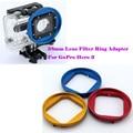 58mm filtro de la lente anillo adaptador para gopro hero 3 y utilizado en caja estanca