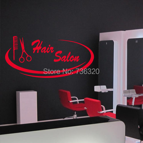 Buy hair spa beauty salon wall sticker for Stickers salon design