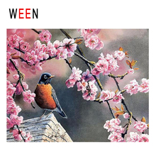WEEN Plum Blossom Bird Diy Painting By Numbers Abstract Animal Oil On Canvas Cuadros Decoracion Acrylic Wall Art 2018