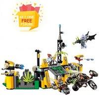 Bela Pogo Kompatybilny Legoe 10079 Super Heroes Batman DC Comics pingwin Bez Twarzy Zestaw Building Blocks Marvel Cegły zabawki dla dziecko