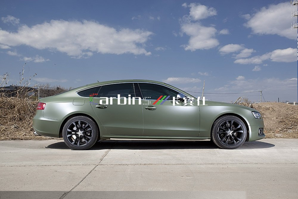 Matte Car Color Changing Vinyl Film Military Green Car Wrap 1 52