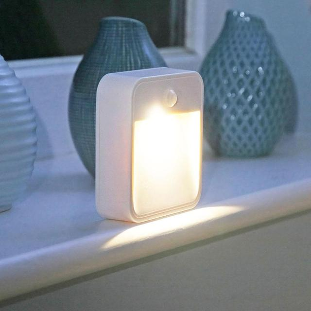 Motion Sensing Light,Battery Powered LED Night Light Stick Anywhere For  Room Wardrobe Drawer Bathroom