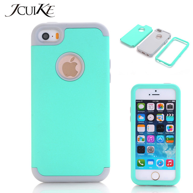 Cover For Le Iphone 5c Case Shockproof Phone Cases Hybrid Defender Rugged Rubber 3 In 1