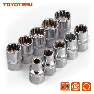 Image 5 - 10PCS Gear Lock Sockets Wrench Auto Repair Tool Hand Tool Set Socket Set 1/2 Inch Size 8mm 19mm