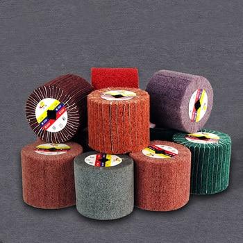 цена на wire drawing polishing Burnishing Machine/Polisher/Sander wheel 120*100*19mm abrasive wheel