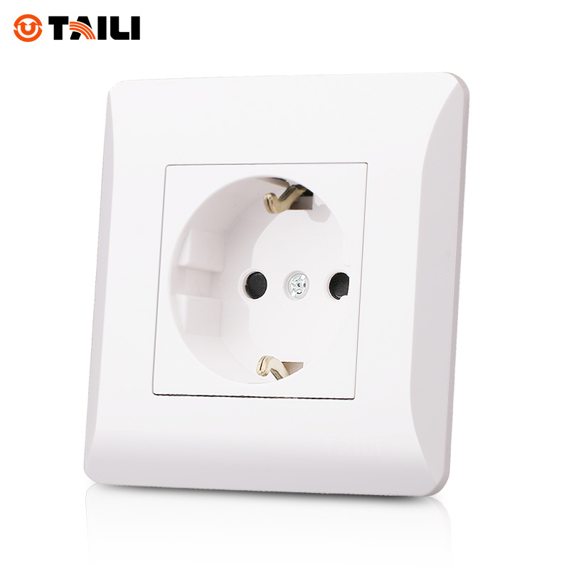 TAILI Brand Socket EU Standard German Plug Socket With Earth Contact ...
