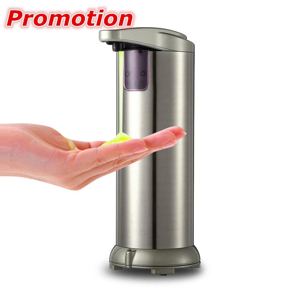 280lm automática de dispensador de jabón líquido de acero inoxidable Sensor de bomba de dispensador de jabón de la ducha cocina botella de jabón para baño/baño
