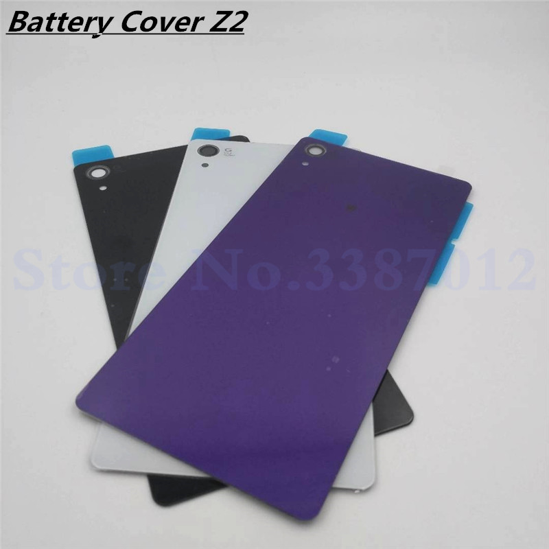 Back <font><b>Battery</b></font> <font><b>Cover</b></font> Glass Case For <font><b>Sony</b></font> Xperia <font><b>Z2</b></font> L50w D6502 D6503 Replacement Rear Door Housing With NFC image