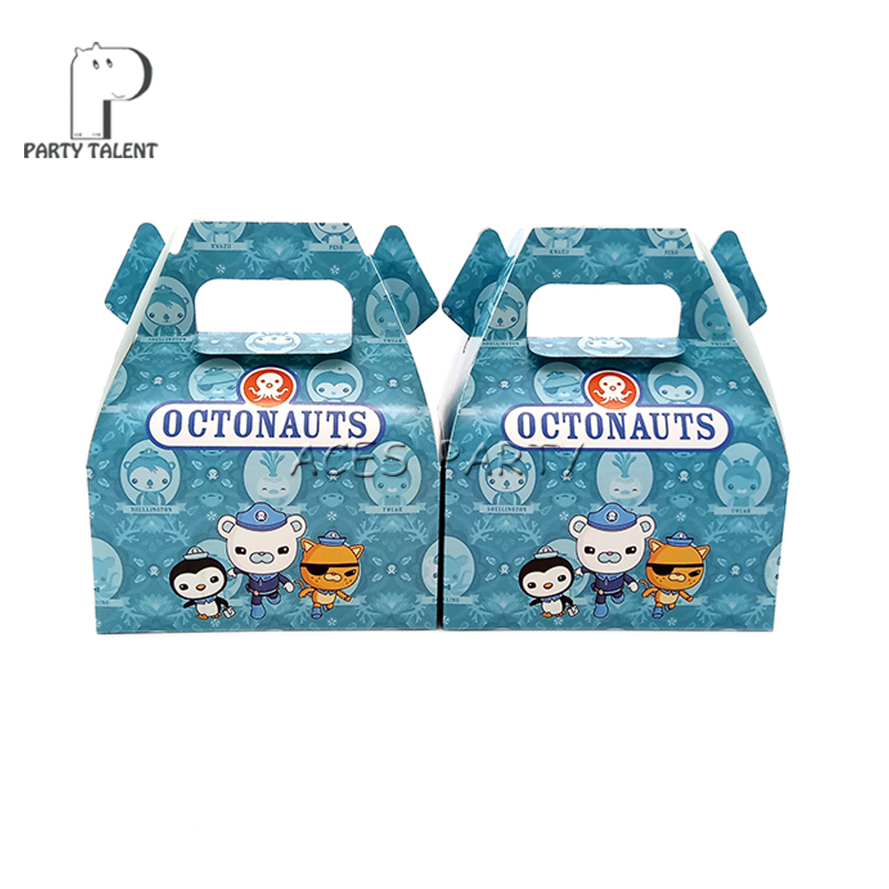 Image 3 - 24pcs/lot Candy Box Cake Box GIft Box for Kids Octonauts Theme Party Baby Shower Party Decoration Party Favor Supplies-in Gift Bags & Wrapping Supplies from Home & Garden