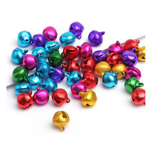 8MM 12MM Mixed Color Jingle Bell Small Bells Fit Festival Jewelry Pendants Charm Beads D0112