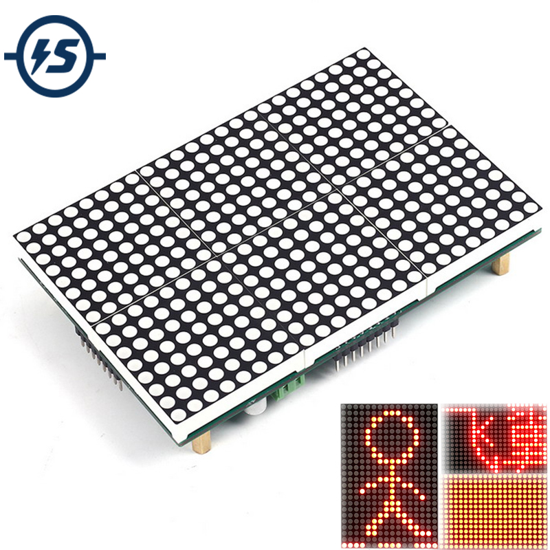 LED Matrix Module LED Display 16x24 Lattice Module 16x24 Dot SubtitleText Display Driving Program Testo Pantalla LED