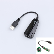 New Wired Network Card USB To RJ45  USB Lan Hub 2.0 10/100 Mbps Ethernet Adapter for Windows 7/8/10/Vista/XP Linux PC