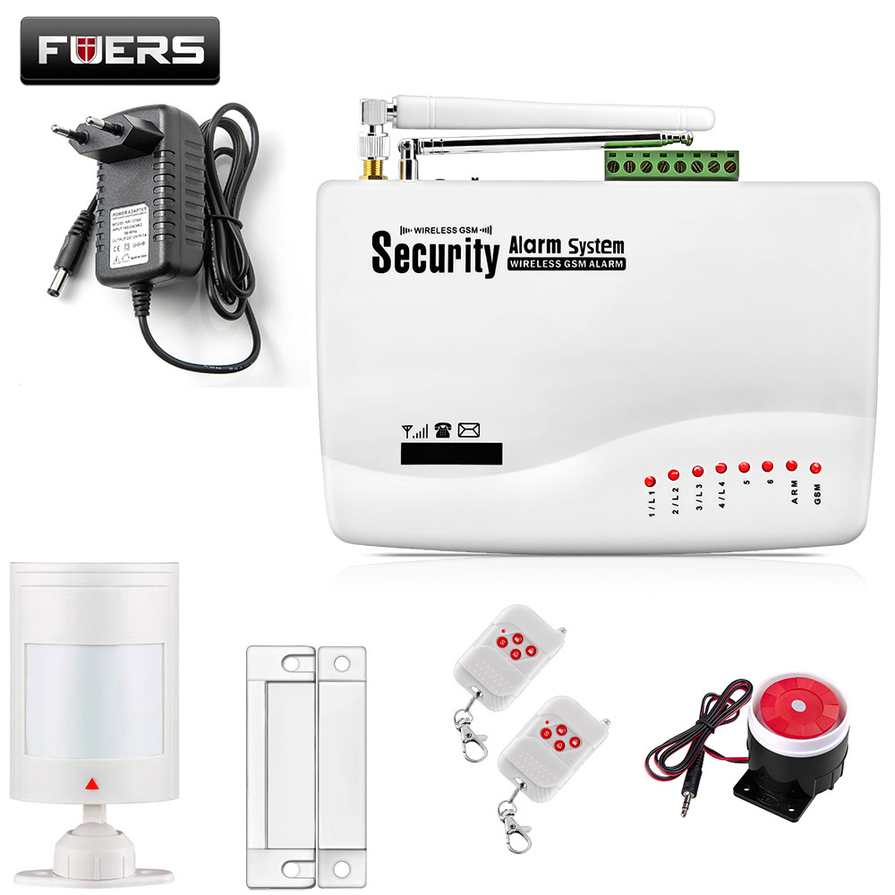 GSM10A English Russian Spansih Voice Prompt SIM Home Security GSM Alarm System Auto Dialing Dialer SMS Call Remote control new wireless wired gsm voice home security burglar android ios alarm system auto dialing dialer sms call remote control setting