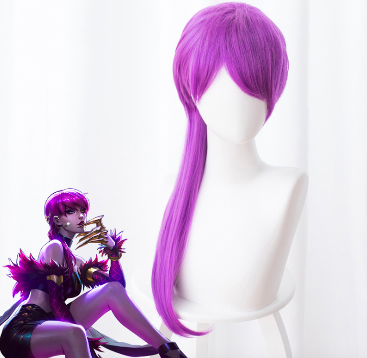 High Quality LOL KDA Evelynn Agony's Embrace Cosplay Wig for Women Halloween Carnival Party Wig Hair