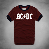ACDC Alternating CurrentDirect Current T Shirt Heavy Metal Rock Band Punk Music Hipster Musician Men 100