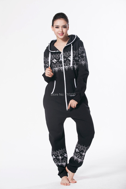 fashion women romper nordic way onesie one piece jumpsuit all in onezie zip playsuit unisex playsuit