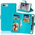 Hot sale ip7 bolsa retro casos de couro para iphone 7 plus Capa carteira Flip Magnético Caso iPhone7 Cobertura Funcional 9 Slots de Cartão