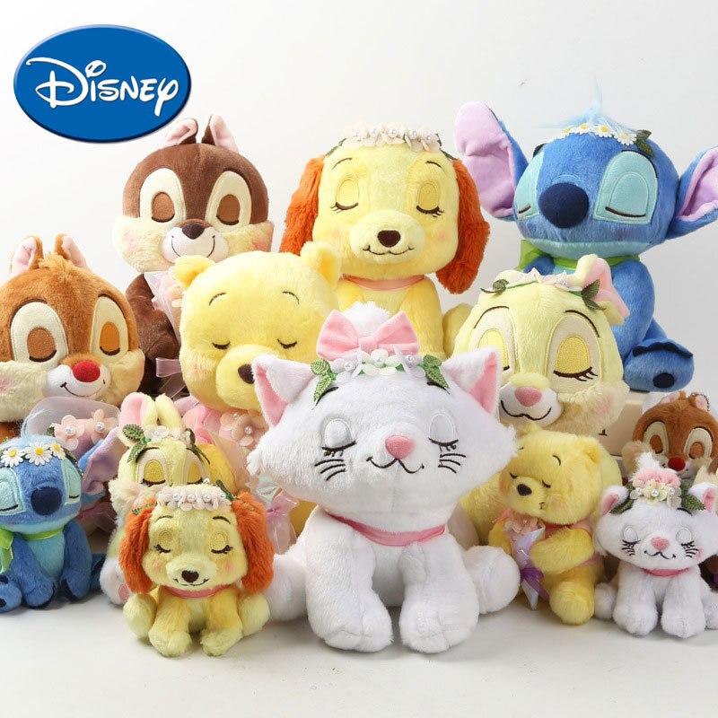 Disney 7 Styles Cartoon Animals Plush Toy Lovely Toys 12-24 cm Soft Stuffed Dolls Kids Gift