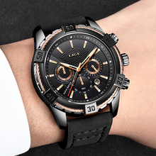 LIGE Mens Watches Top Brand Luxury Men Casual Leather Waterproof Quartz Watch Men Sport Clock Chronograph  Reloj Hombre 2018 men watch top brand lige men waterproof sport mechanical watch men casual leather business wristwatch reloj automatico de hombre