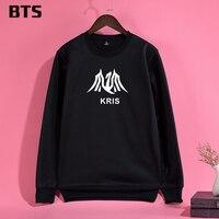 EXO Wu Kris BTS Koreański Bluza Kobiety Wygodne Dorywczo Kobiece Luźne Harajuku Drukarnie Kobiety bluzy bluzy z kapturem Bluzy Kawaii