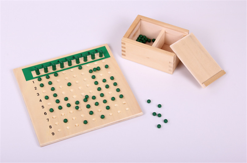 New Baby Toy Montessori Multiplication Bead Board and Division Bead Board for Early Childhood Education Preschool Training Toy