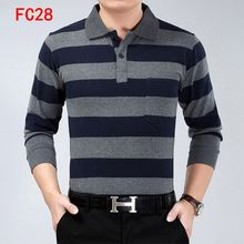Brand Classic Autumn And Winter POLO shirt Casual knitwear Men's POLO Tace&Shark Mens Pullover Long sleeve Male Half Turtleneck