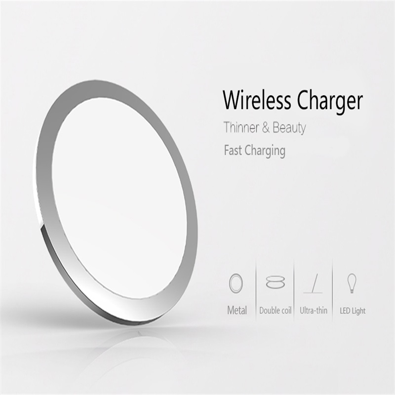 W6 Wireless Charger Fast Charging quick for iPhone 8/X Samsung Galaxy S6 S7 S8 galaxy Double Coils Pad 5V/2A & 9V/1.67A Charge