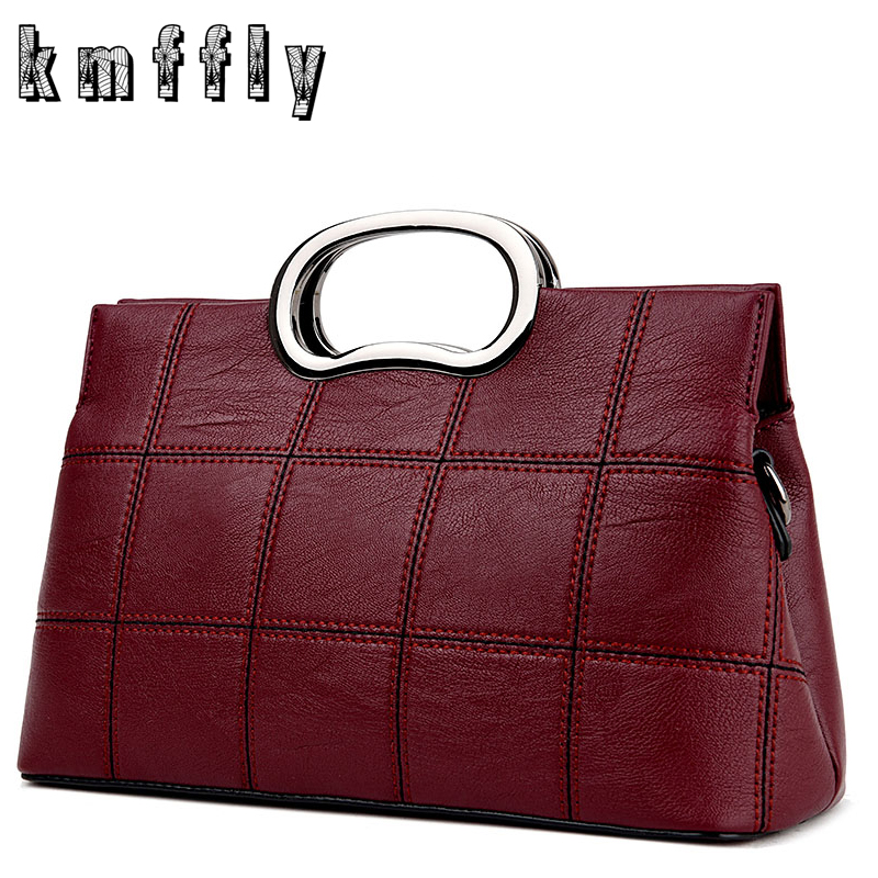 KMFFLY New Plaid Women Messenger Bags Luxury Handbags Women