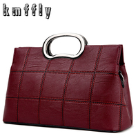 KMFFLY New Plaid Women Messenger Bags Luxury Handbags Women Bags Designer High Quality Pu Leather Purses and Handbags Bolsa