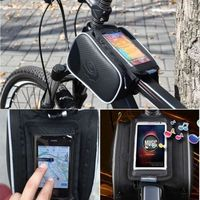 ROSWHEEL MTB Bike Bicycle PU Front Tube Bag Touch Screen Case Transparent Case For Samsung HTC