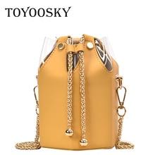 TOYOOSKY Fashion Women Handbags PU Leather Bucket Bag European Style Ladies Shoulder Chain Messenger Bolsas Mujer