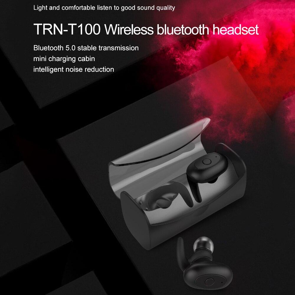 D'origine TRN T100 Casque Sans Fil Bluetooth Écouteurs TWS V5.0 Super Bass Stéréo Mains Libres Casque Avec Microphone