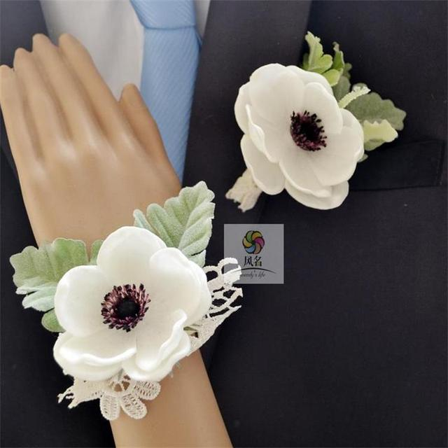 Aliexpress buy white color best man wedding boutonniere groom white color best man wedding boutonniere groom godfather brooch corsage accessories supplies bride bridesmaid hand wrist junglespirit Images