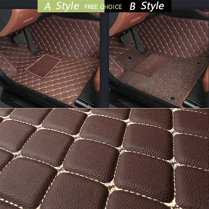 leather car floor mats for BMW all model X3 X1 X4 X5 X6 Z4 525 520 f30 f10 e46 e90 e60 e39 e84 e83 car styling-in Floor Mats from Automobiles & Motorcycles    3