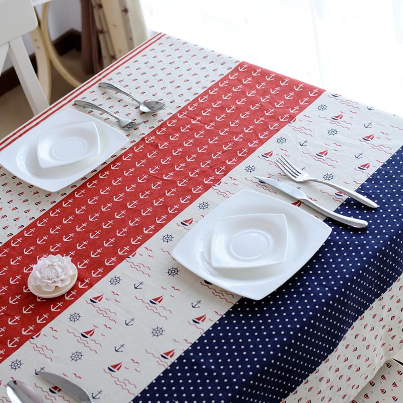 Online get cheap red and white striped tablecloth for White cotton table cloth