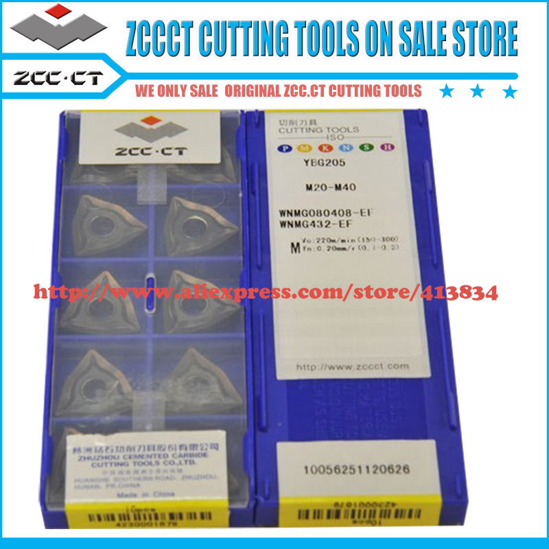10pcs lot WNMG080408 EF WNMG080408 WNMG08 ZCCCT insert WNMG 080408 EF ZCC cemented carbide turning tool