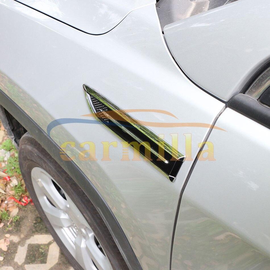 ABS Trim Cover Light Side Emblem Decoration Trim Sticker for Skoda Octavia Fabia Superb Mazda CX-5 Mitsubishi Outlander Pajero