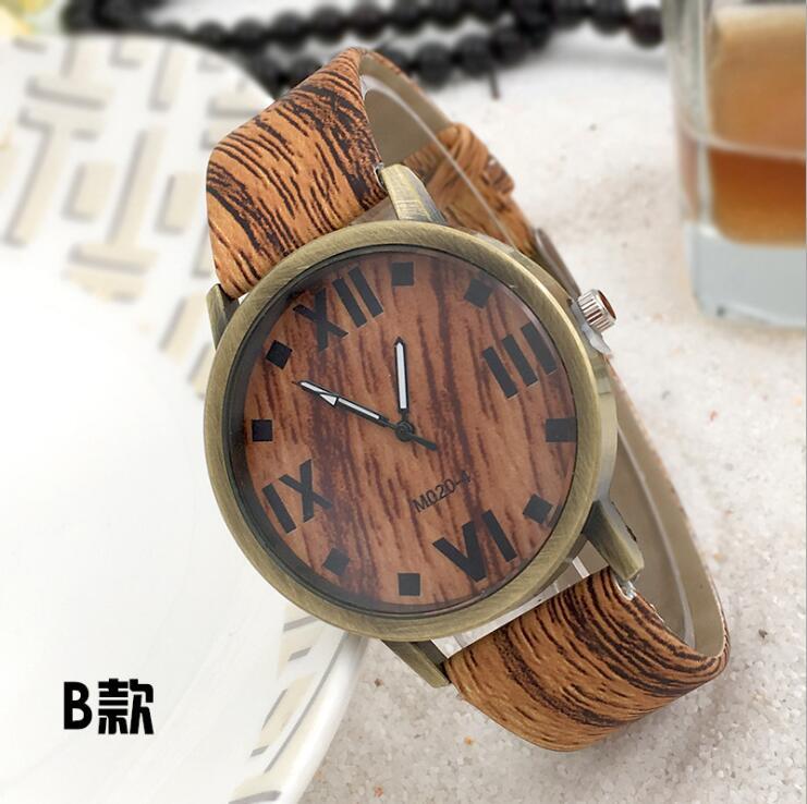 Symulacja Drewniane zegarki kwarcowe Reloje Męskie Zegarki na co - Męskie zegarki - Zdjęcie 3