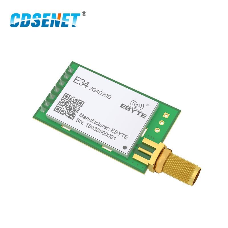 NRF24L01P 2.4GHz 20dBm Long Range Rf Module Wireless Transceiver E34-2G4D20D  Full Duplex 2.4 Ghz NRF24L01 SMA Iot Transmitter