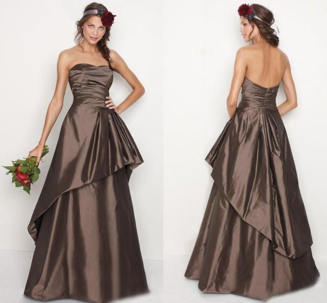 Chocolate vestidos de fiesta