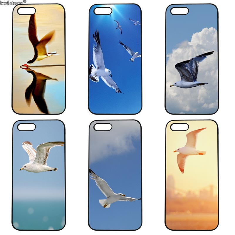 Mobile Phone Case Flying Seabirds Hard Anti-knock Cover Fitted for iphone 8 7 6 6S Plus X 5S 5C 5 SE 4 4S iPod Touch 4 5 6 Sehll