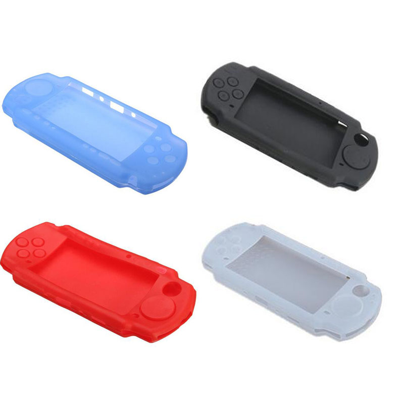 Silicone Soft Protective Cover <font><b>Shell</b></font> for Sony PlayStation Portable <font><b>PSP</b></font> 2000 2004 2008 3000 <font><b>3004</b></font> 3008 Console Protector Skin Case image