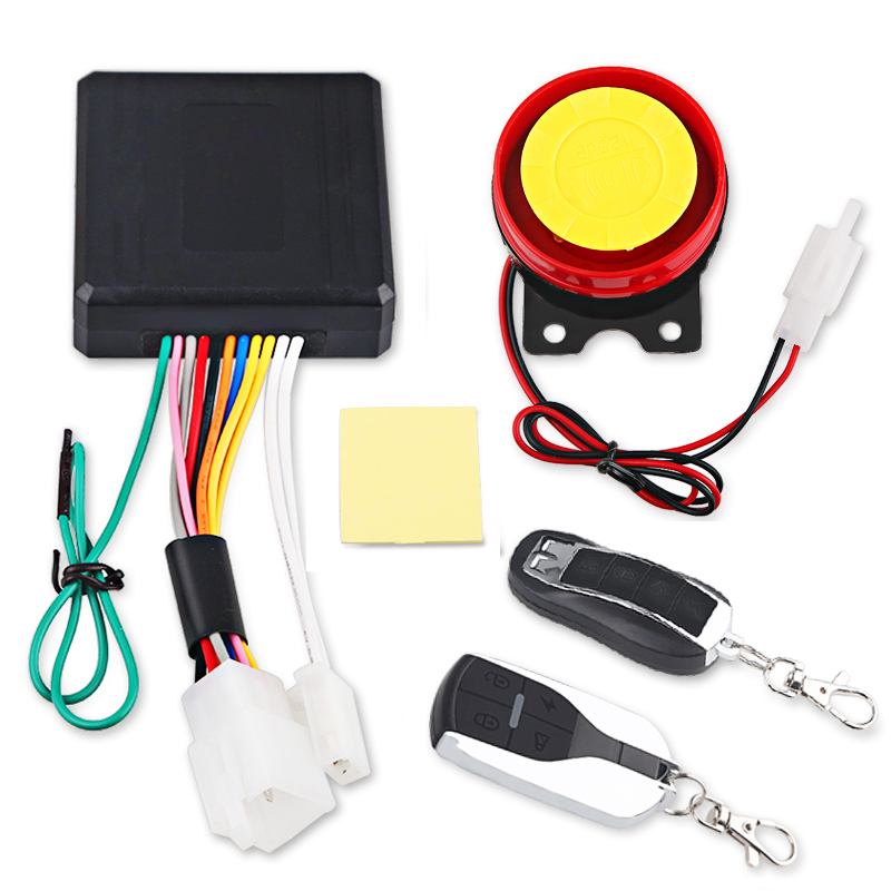 Universal Motorcycle Bike Alarm System Scooter Anti-theft Security Alarm Moto Remote Control Engine Start + Alarme Moto Speaker