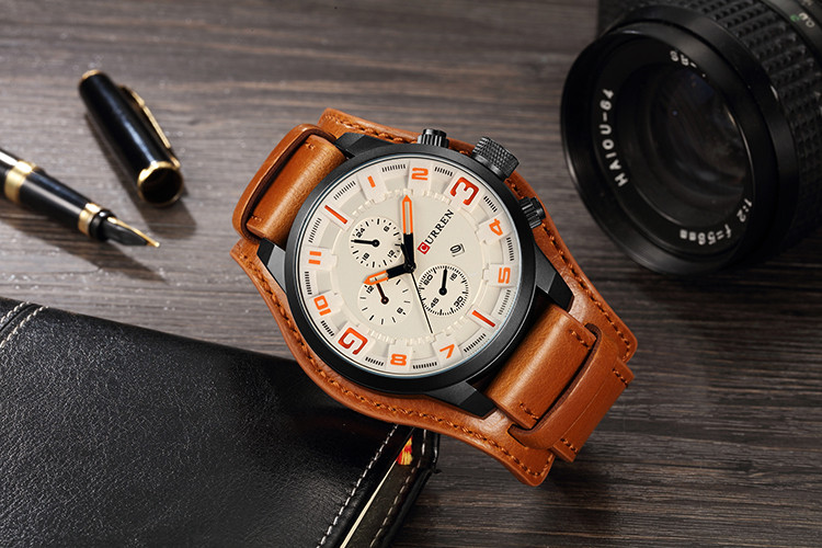 HTB1I4z9cBCw3KVjSZFlq6AJkFXa8 CURREN Top Brand Luxury Mens Watches Male Clocks Date Sport Military Clock Leather Strap Quartz Business Men Watch Gift 8225