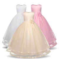 458a805392 Flower Teen Girls Dress In Kids 2018 Formal Princess Tulle Long Full Prom  Pageant Party And