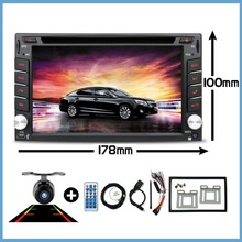 """6.2 """"רכב מולטימדיה הקלטת player מקליט 2 דין רדיו DVD לרכב נגן ניווט GPS/רדיו/MP3 /Bluetooth/היגוי גלגל"""