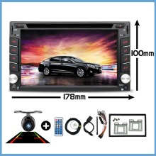 "6.2"" Car Multimedia cassette player tape recorder 2 din radio Car DVD Player GPS navigation/Radio/MP3/Bluetooth/Steering Wheel"
