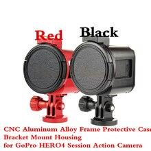 CNC Aluminum Alloy Frame Protective Case Bracket Mount Housing for GoPro HERO4 Session Action Camera